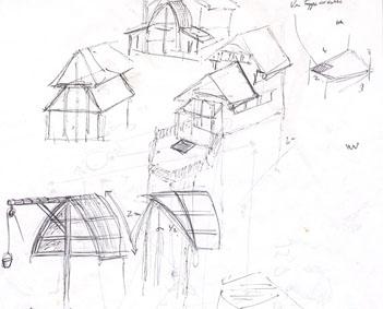 Croquis du projet - Cabane jardin plan asnieres sur seine ...