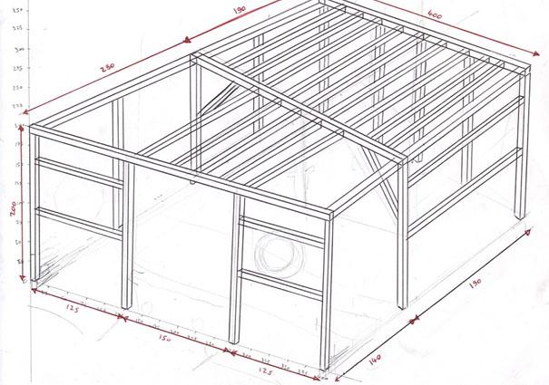 Cabane en bois plan for Plans de cabanes en bois